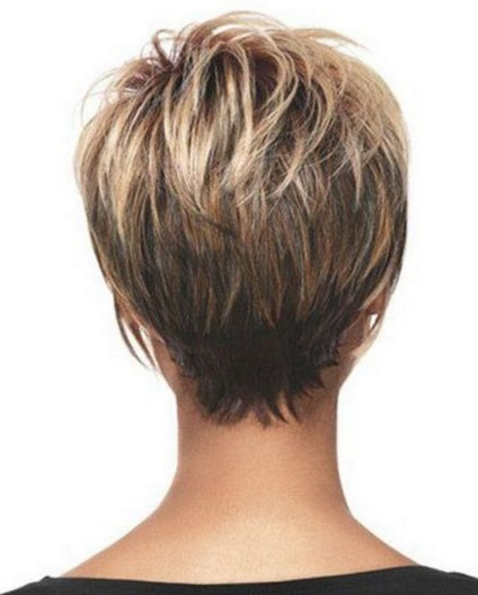 Short asymmetrical haircuts back view